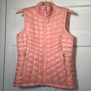 North Face Thermoball Pink Vest~Like New~